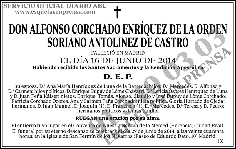 Etiqueta: Alfonso Corchado Enríquez de la Orden Soriano Antolinez de